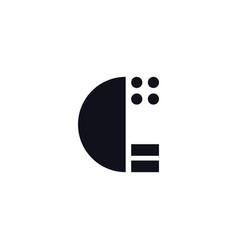 logo letter c black and white vector image