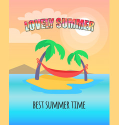 lovely summer best time vector image