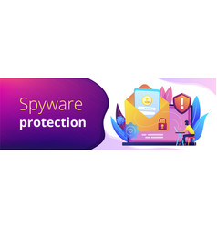 malware computer virus concept banner header vector image