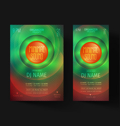 minimal party flyer invitations for a night club vector image