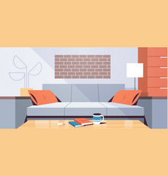 modern apartment design empty no people living vector image