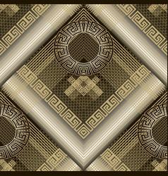 modern geometric 3d greek seamless pattern grid vector image