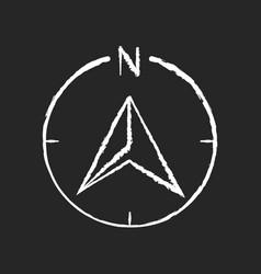 Navigator arrow chalk white icon on black vector