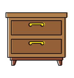 nightstand bedroom isolated icon vector image