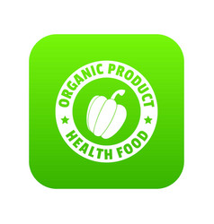 Organic product icon green vector