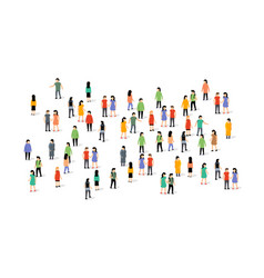 people group crowd social team large person vector image