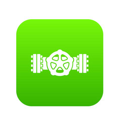 pipiline icon green vector image