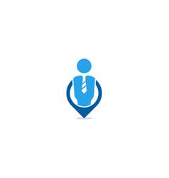 Point job logo icon design vector