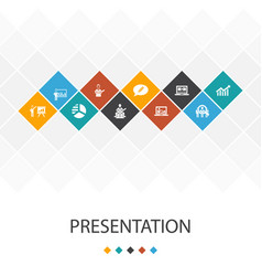 Presentation trendy ui template infographics vector