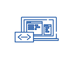 program coding line icon concept program coding vector image