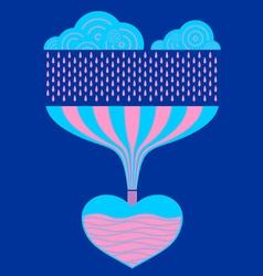 Rain Heart vector image