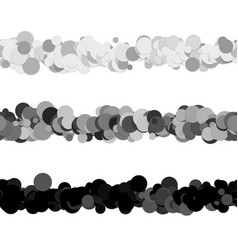 Repeatable chaotic dot pattern page dividing line vector