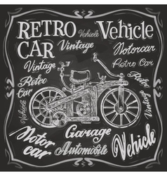 retro car logo design template vehicle or vector image