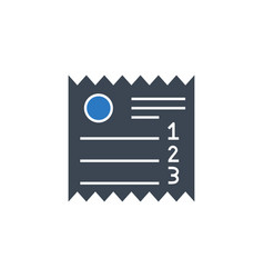 Sales receipt related glyph icon vector