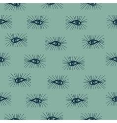 Seamless pattern eyes hand drawn vector image