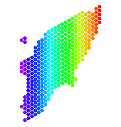 Spectrum hexagon greek rhodes island map vector
