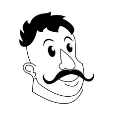 strong man mustache circus character image vector image
