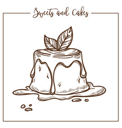 sweets and cakes dessert made of jelly and vector image