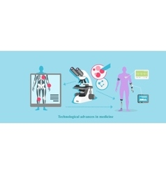 Technological Advance in Medicine Icon Flat vector