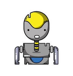 Tecnology robot face with chest design vector
