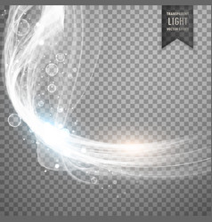 transparent white light effect background vector image