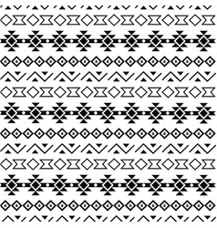 tribal seamless pattern black on white background vector image