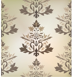 Vintage damask ornament background vector image