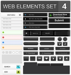Web elements set 4 vector image