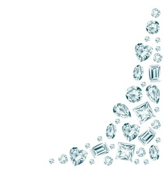 White background with diamonds vector image