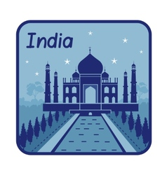 With Taj Mahal in India vector