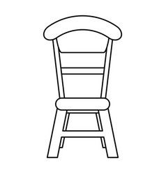 Wooden chair vintage thin line vector