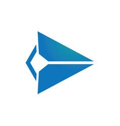triangle arrow right logo vector image