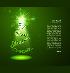 eve tree background greeting card with green vector image