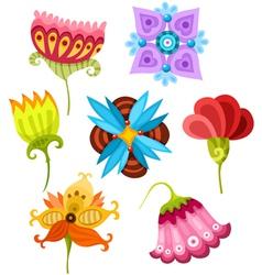 Flower set vector