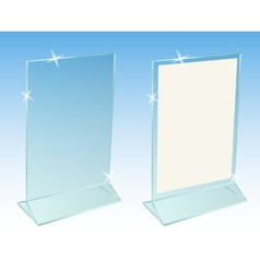 Glass transparent advertising desktop stand vector image vector image