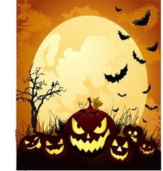 Halloween grunge background vector image