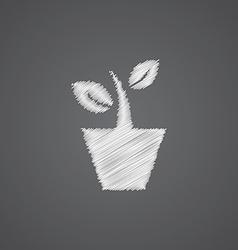 houseplant sketch logo doodle icon vector image
