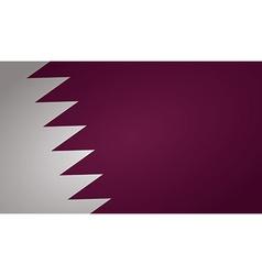 qatar flag vector image vector image