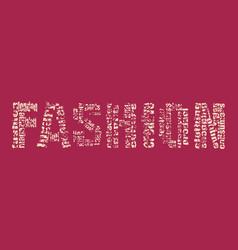 Fashion keywords tag cloud vector