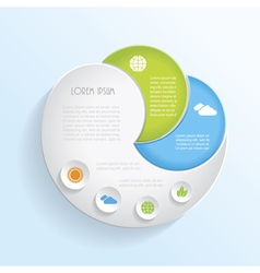 Modern ecology infographic template design vector image vector image