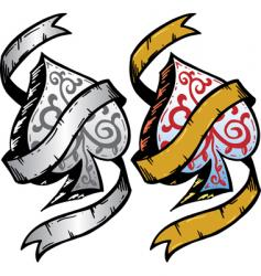 ace of spades tattoo vector image