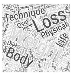 Fast Weight Loss Word Cloud Concept vector image