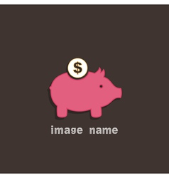 Pig coin box vector image