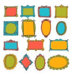 Set of hand drawn frames Cute decorative elements vector image vector image