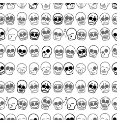 Set of icons skull seamless pattern vector image