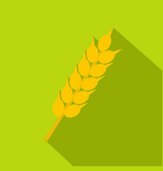 wheat ear icon flat style vector image