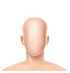 3d realistic faceless human model vector image