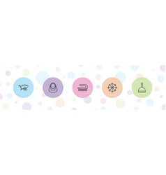 5 handle icons vector