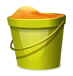A pail with sand vector