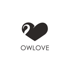 abstract flying owl love logo icon template vector image